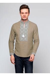 Рубашка вышитая гладью «Снежинка»  М-412-11