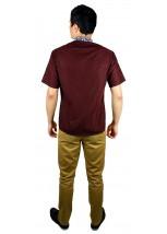 Рубашка вышитая гладью «Снежинка»  М-412-9