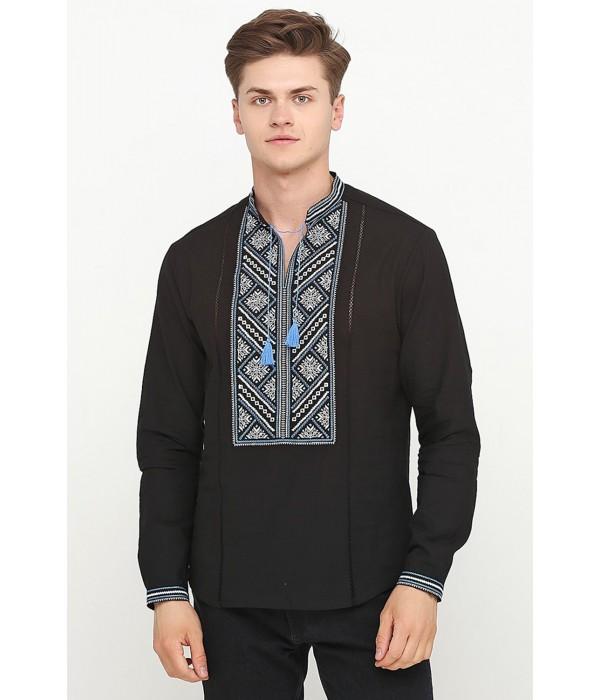 Рубашка вышитая крестиком M-425-4, Рубашка вышитая крестиком M-425-4 купити