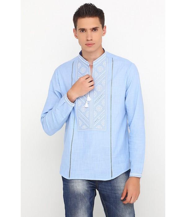 Рубашка вышитая крестиком M-425-7, Рубашка вышитая крестиком M-425-7 купити