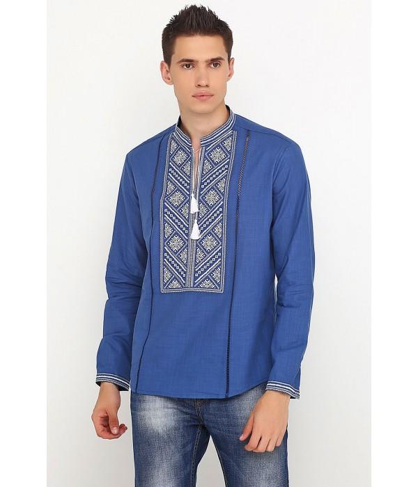 Рубашка вышитая крестиком M-425-8, Рубашка вышитая крестиком M-425-8 купити