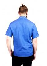 Світло-блакитна чоловіча вишиванка  М-403-29