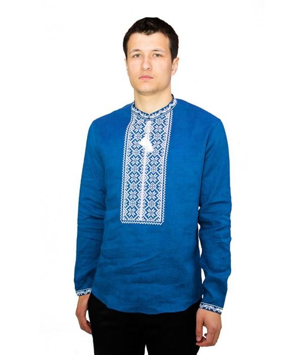 Рубашка вышитая крестиком «Пасхальная» М-404-4, Рубашка вышитая крестиком «Пасхальная» М-404-4 купити