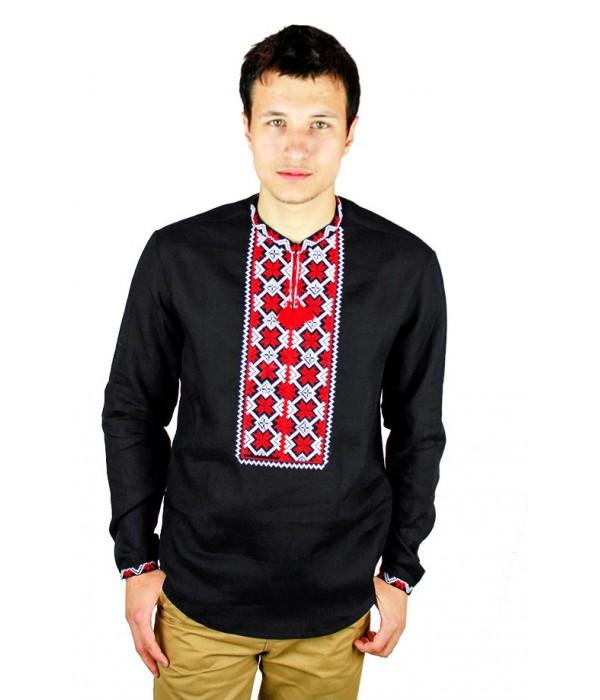 Рубашка вышитая крестиком «Пасхальная»  М-404-13, Рубашка вышитая крестиком «Пасхальная»  М-404-13 купити