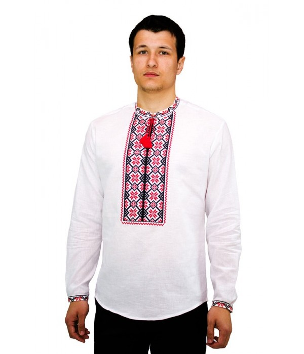 Рубашка вышитая крестиком «Пасхальная» М-404-6, Рубашка вышитая крестиком «Пасхальная» М-404-6 купити