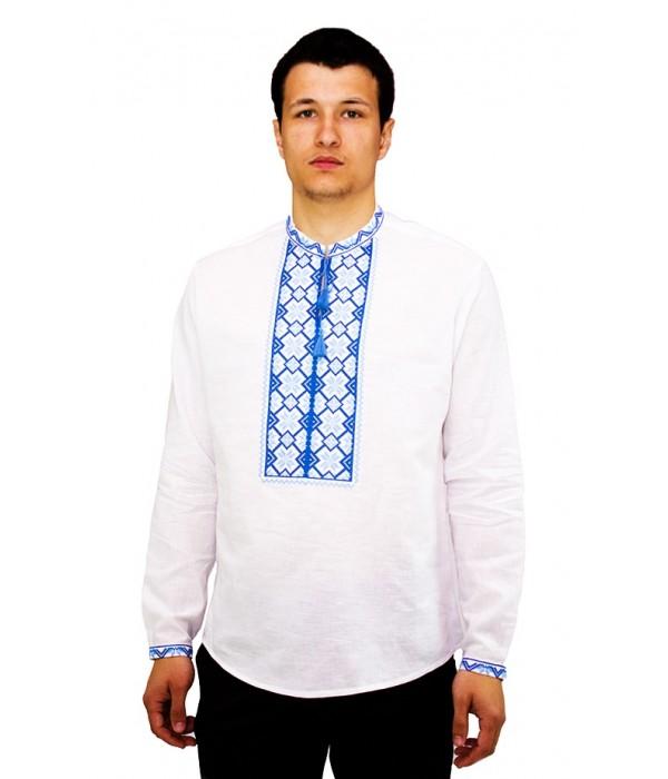 Рубашка вышитая крестиком «Пасхальная»  М-404-7, Рубашка вышитая крестиком «Пасхальная»  М-404-7 купити