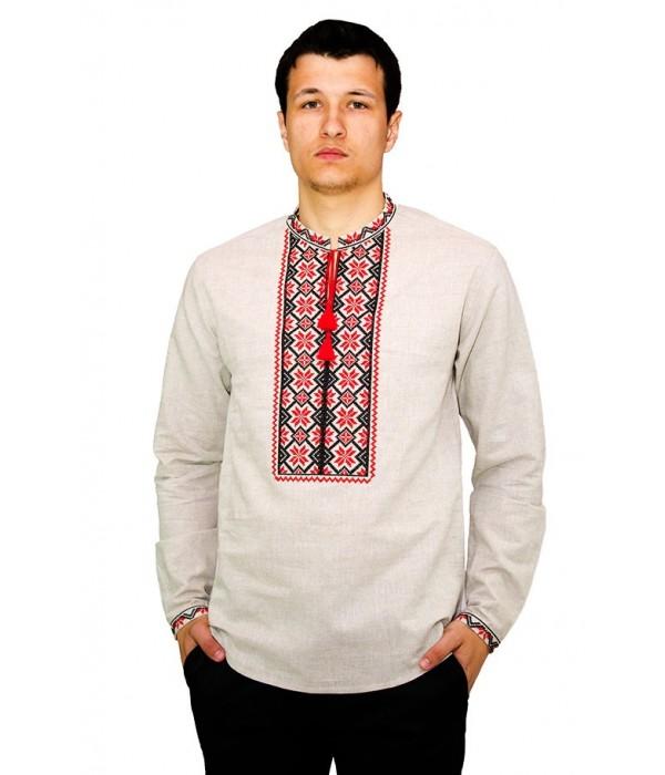 Рубашка вышитая крестиком «Пасхальная» М-404-5, Рубашка вышитая крестиком «Пасхальная» М-404-5 купити
