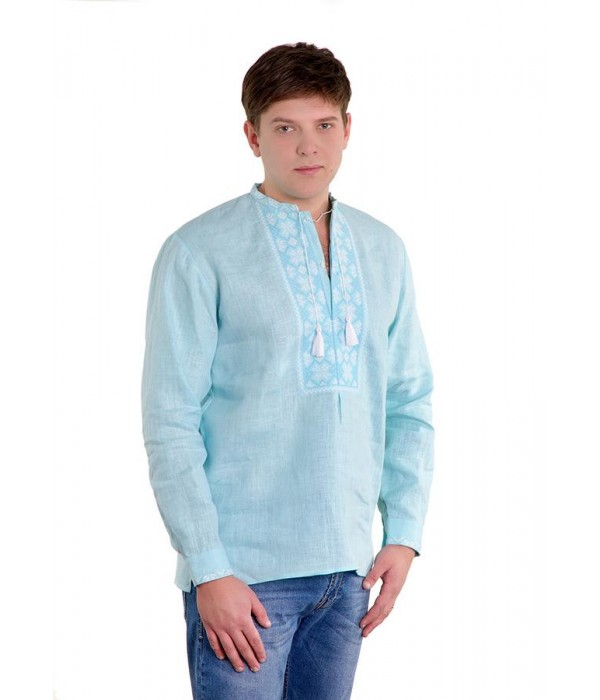 Рубашка вышитая крестиком «Пасхальная»  М-404-1, Рубашка вышитая крестиком «Пасхальная»  М-404-1 купити