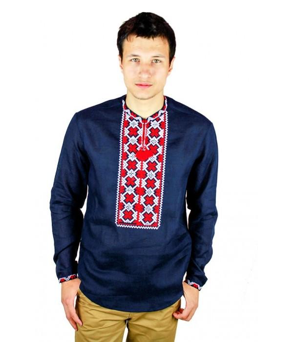 Рубашка вышитая крестиком «Пасхальная»  М-404-9, Рубашка вышитая крестиком «Пасхальная»  М-404-9 купити