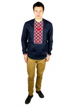 Рубашка вышитая крестиком «Пасхальная»  М-404-9