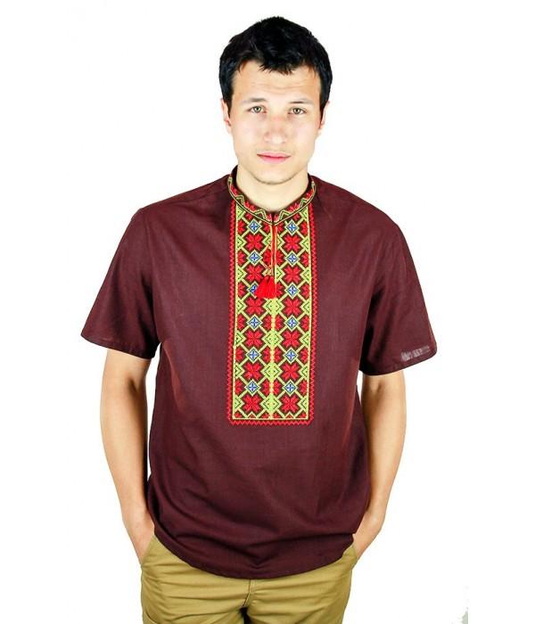 Рубашка вышитая крестиком «Пасхальная» М-404-10, Рубашка вышитая крестиком «Пасхальная» М-404-10 купити