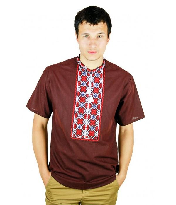 Рубашка вышитая крестиком «Пасхальная» М-404-11, Рубашка вышитая крестиком «Пасхальная» М-404-11 купити