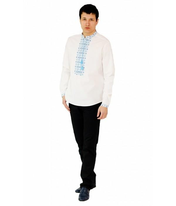 Рубашка вышитая крестиком «Жучки» 100 % Лен  М-410-6, Рубашка вышитая крестиком «Жучки» 100 % Лен  М-410-6 купити