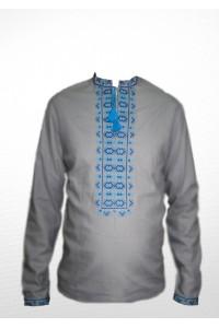 Рубашка вышитая крестиком «Жучки» 100% Лен М-410-8