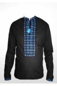 Рубашка вышитая крестиком «Жучки» 100% Лен М-410-9