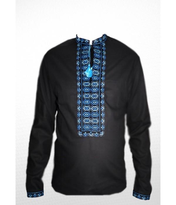 Рубашка вышитая крестиком «Жучки» 100% Лен М-410-9, Рубашка вышитая крестиком «Жучки» 100% Лен М-410-9 купити