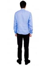 Рубашка вышитая гладью «Снежинка»  М-412-7