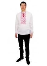 Рубашка вышитая гладью «Снежинка» М-412-6