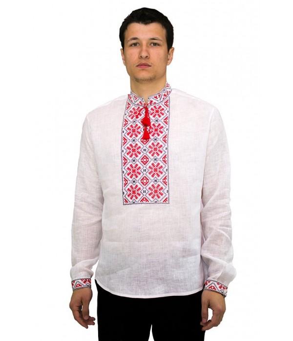 Рубашка вышитая гладью «Снежинка» М-412-6, Рубашка вышитая гладью «Снежинка» М-412-6 купити