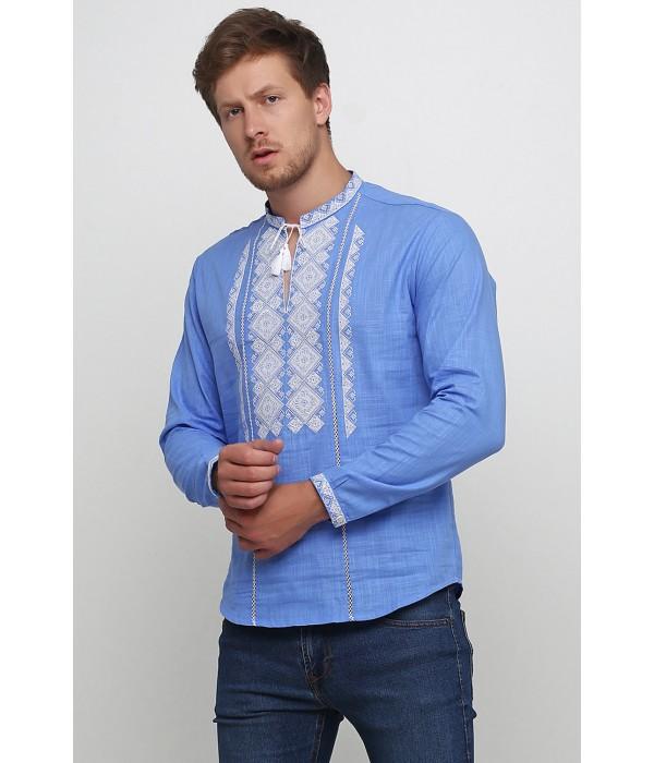 Рубашка вышитая мужская М-424-3, Рубашка вышитая мужская М-424-3 купити