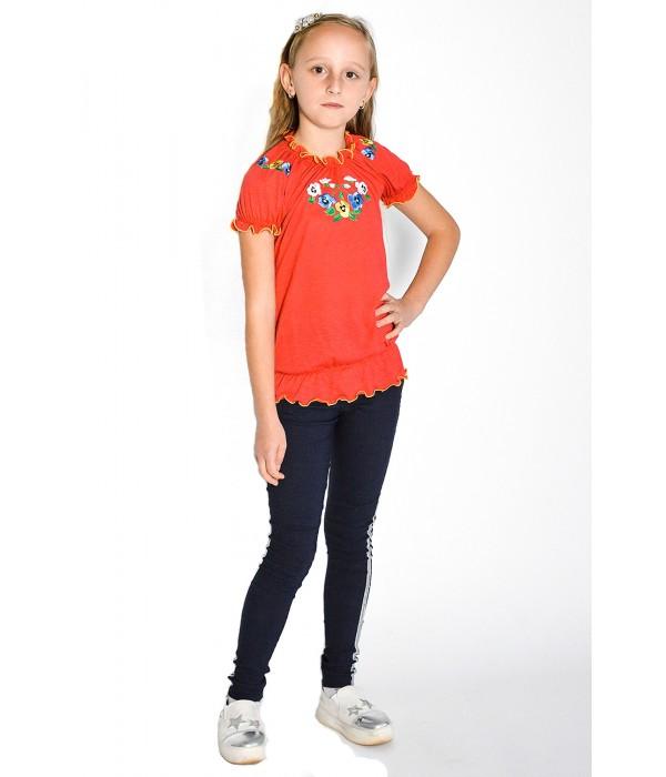 Футболка вишита на дівчинку М-201-2, Футболка вишита на дівчинку М-201-2 купити