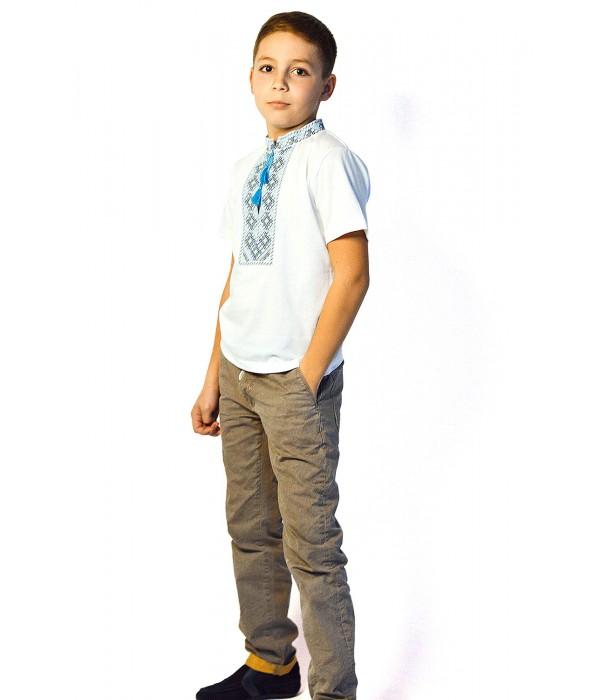 Футболка вишита хлопчика М-110-1, Футболка вишита хлопчика М-110-1 купити