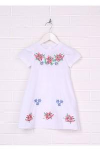Плаття для дівчинки M-801-1 (65% поліестер, 35% бавовна)