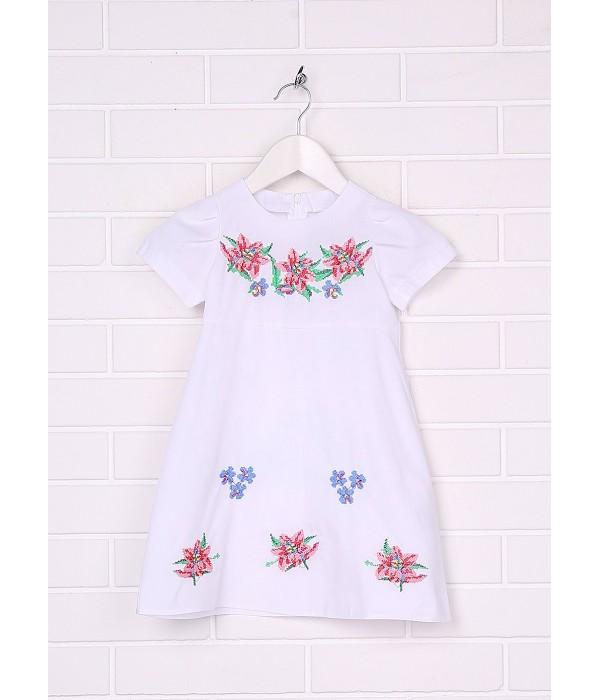 Плаття для дівчинки M-801-1 (65% поліестер, 35% бавовна), Плаття для дівчинки M-801-1 (65% поліестер, 35% бавовна) купити