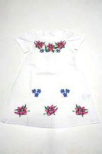 Платье для девочки M-801 (75% лен, 25% хлопок)