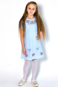 Платье для девочки M-801-2 (75% лен, 25% хлопок)