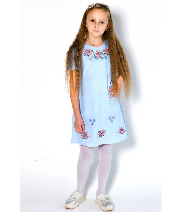 Плаття для дівчинки M-801-2 (75% льон, 25% бавовна), Плаття для дівчинки M-801-2 (75% льон, 25% бавовна) купити
