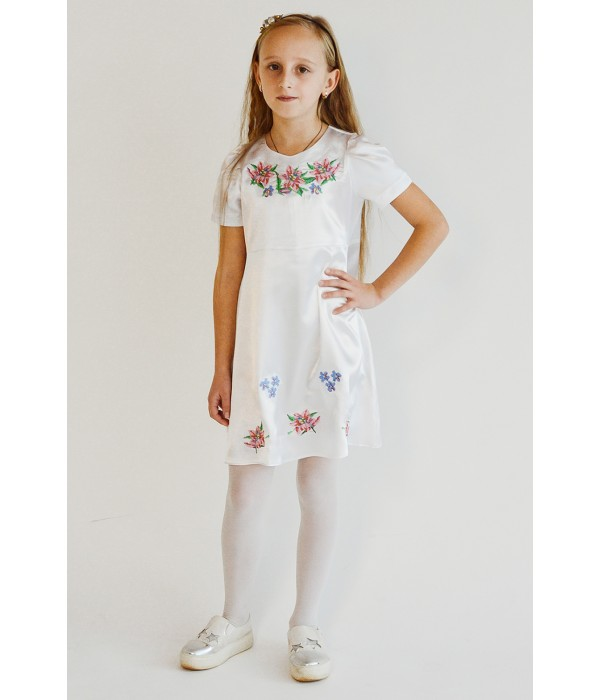 Плаття для дівчинки M-801-3 (100% поліестер), Плаття для дівчинки M-801-3 (100% поліестер) купити