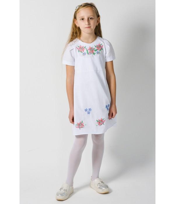 Платье для девочки M-801 (75% лен, 25% хлопок), Платье для девочки M-801 (75% лен, 25% хлопок) купити