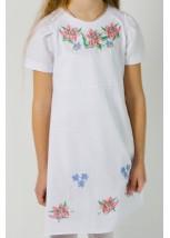Плаття для дівчинки M-801 (75% льон, 25% бавовна)