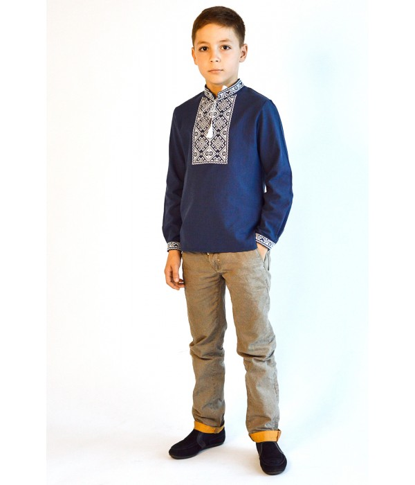 Рубашка вышитая на мальчика М-1001-3, Рубашка вышитая на мальчика М-1001-3 купити