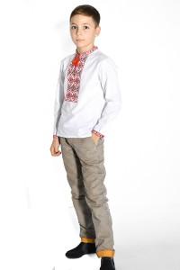 Детская рубашка белого цвета М-1002-1