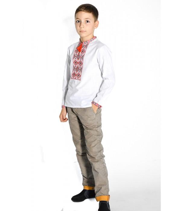 Дитяча сорочка білого кольору М-1002-1, Дитяча сорочка білого кольору М-1002-1 купити