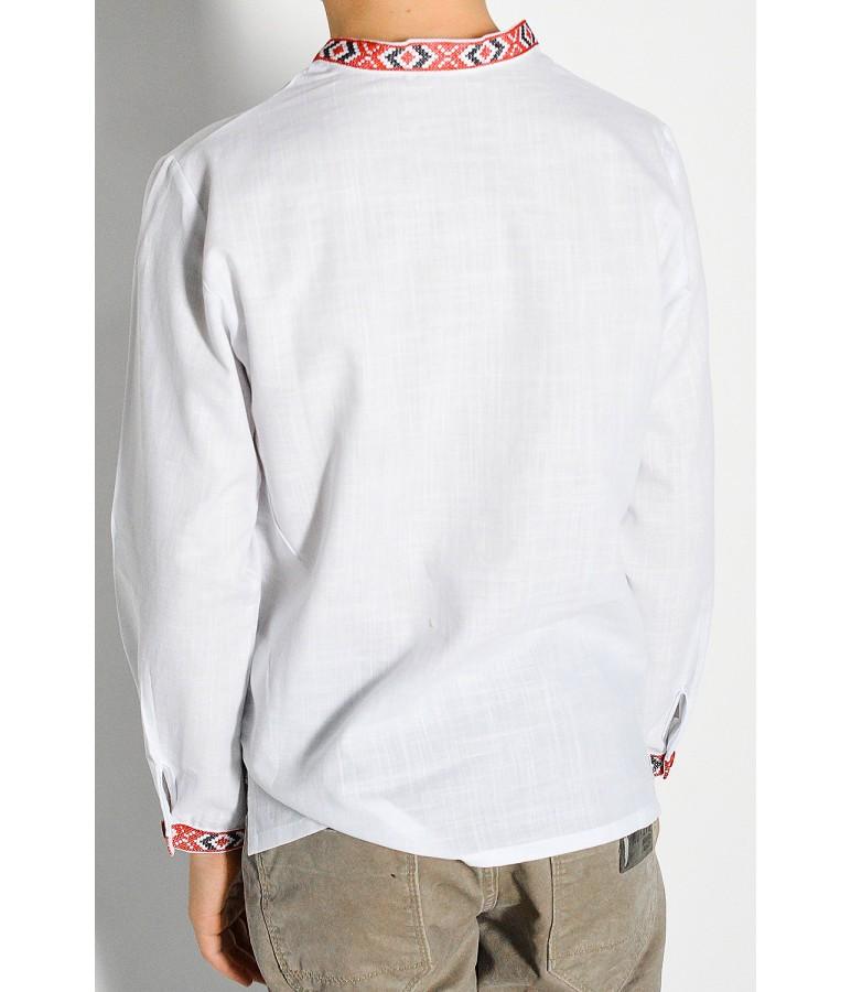 Дитяча сорочка білого кольору М-1002-1 купити у Львові d35c61ae52b86