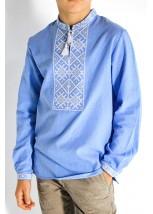 Детская рубашка голубого цвета М-1002-2
