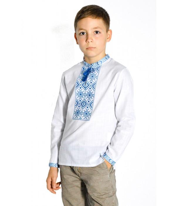 Дитяча сорочка з натуральної тканини М-1002-4, Дитяча сорочка з натуральної тканини М-1002-4 купити