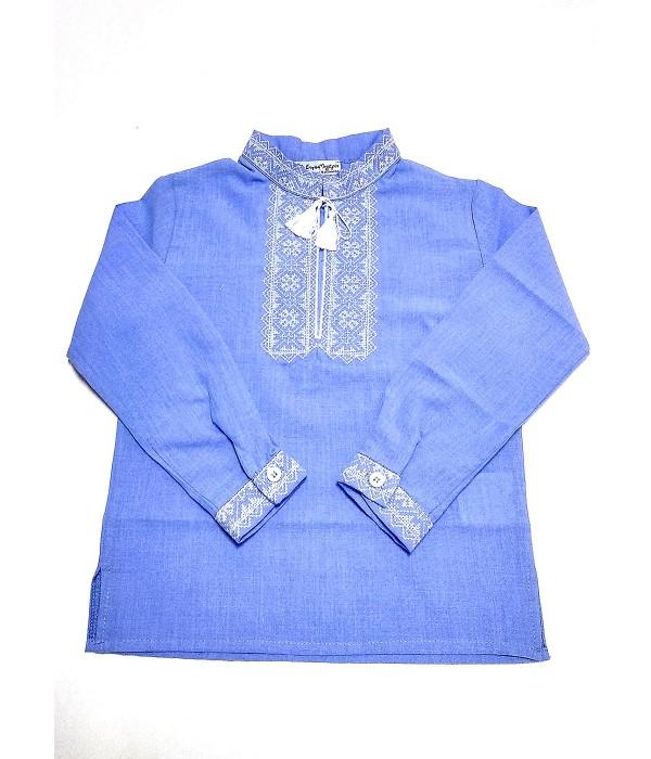 Дитяча сорочка голубого кольору М-1009-2, Дитяча сорочка голубого кольору М-1009-2 купити