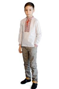 Детская рубашка белого цвета М-1009-1