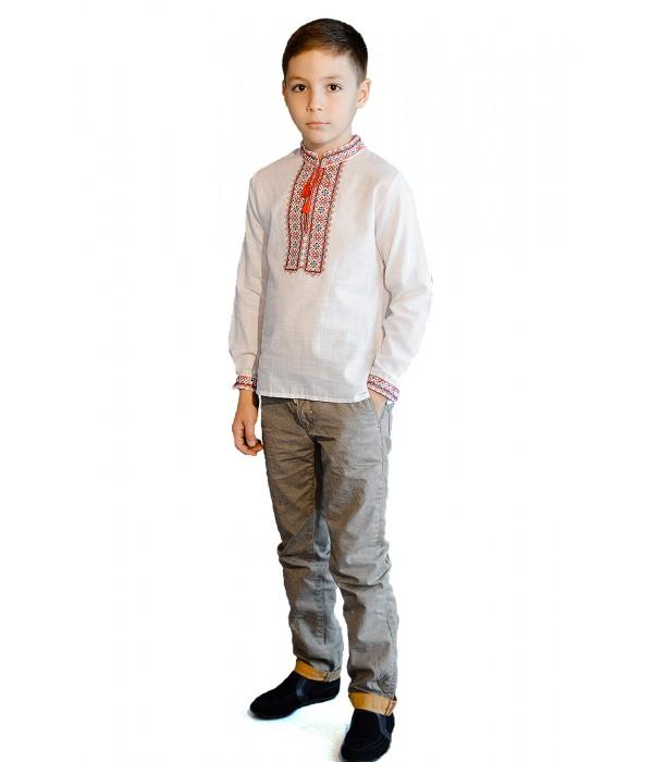 Дитяча сорочка білого кольору М-1009-1, Дитяча сорочка білого кольору М-1009-1 купити