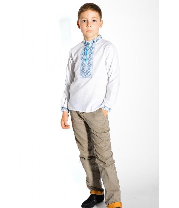 Детская рубашка из натуральной ткани М-1010, Детская рубашка из натуральной ткани М-1010 купити