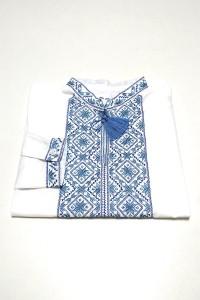 Детская рубашка белого цвета М-1012-1