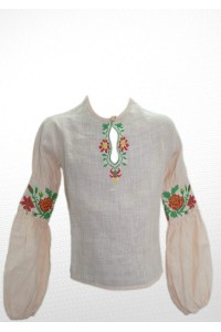 Рубашка вышитая на девочку М-503-1