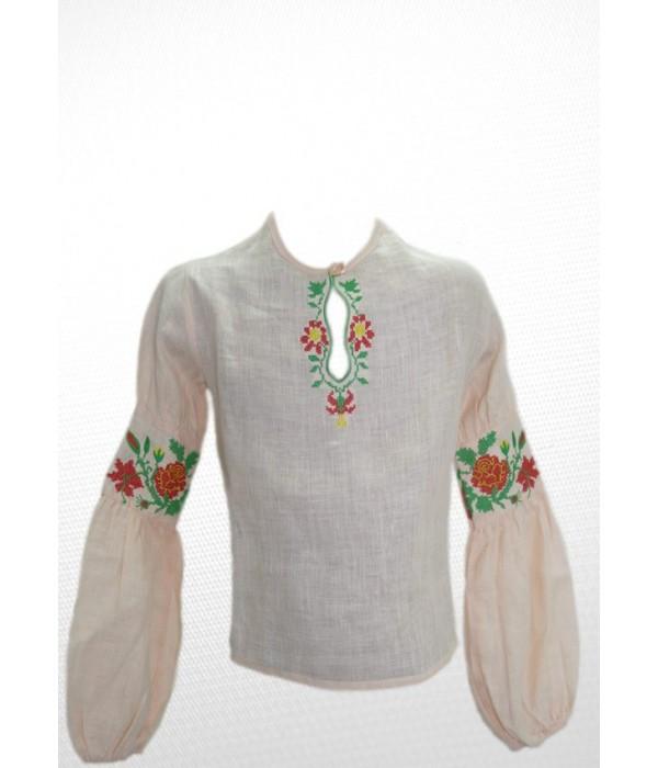 Рубашка вышитая на девочку М-503-1, Рубашка вышитая на девочку М-503-1 купити