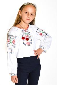 Рубашка вышитая на девочку М-506