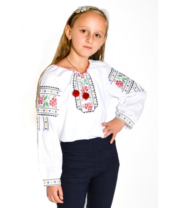 Рубашка вышитая на девочку М-506, Рубашка вышитая на девочку М-506 купити