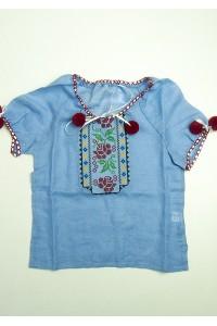 Рубашка вышитая на девочку М-506-9